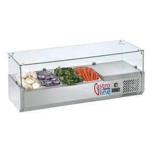 Kjølerenne med glasstopp for GN1/3 og mest kantine størrelser