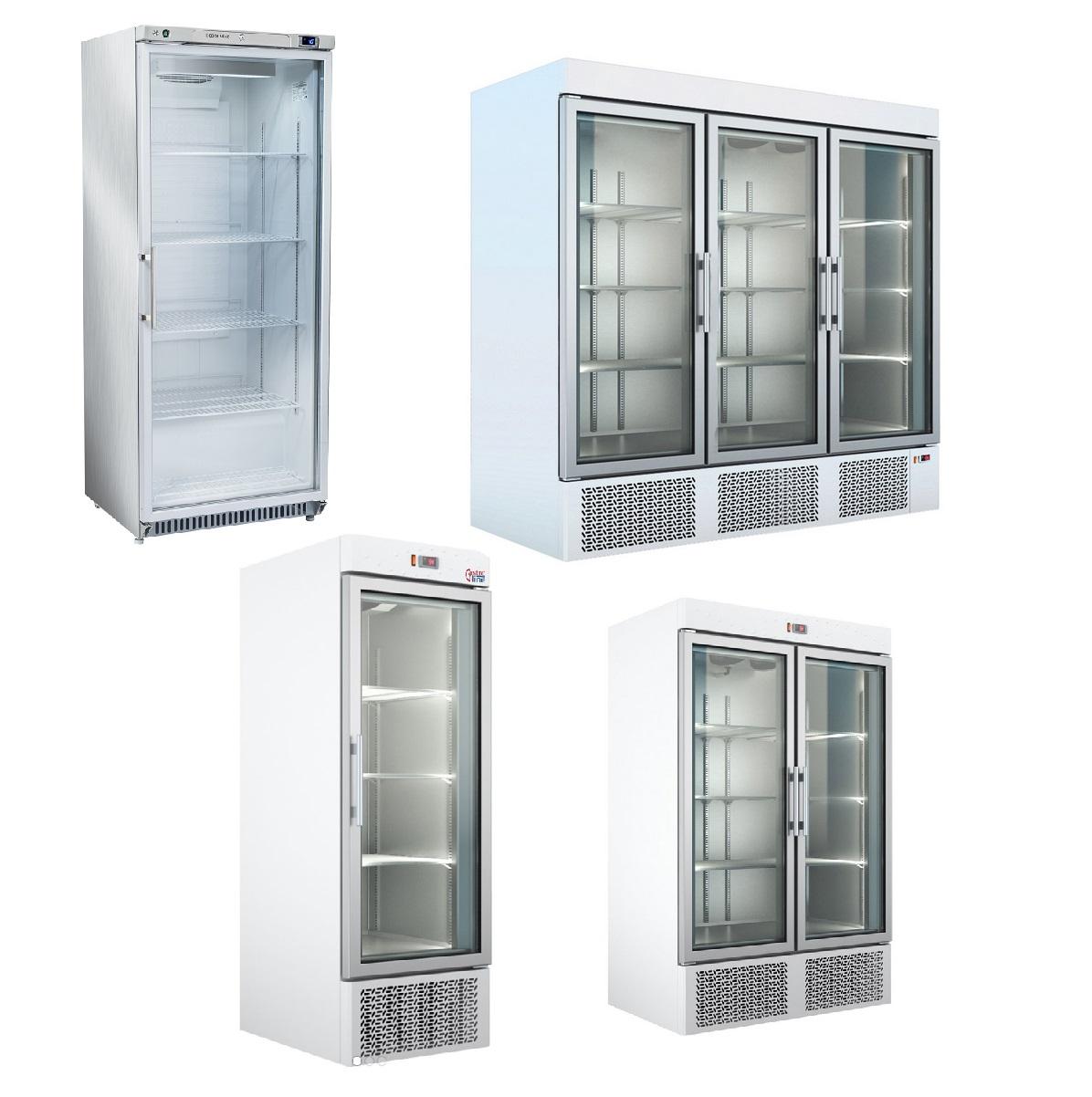 Kjøleskap glassdør